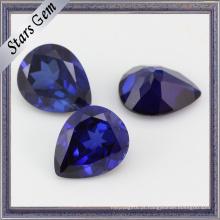 Pear Brilliant Diamond Cut Tamanho Grande Azul Safira Corindo
