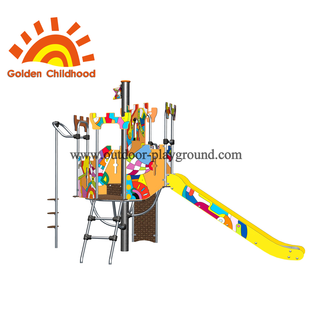 Colorful Type Slide Outdoor Playground Facility For Children