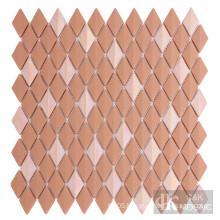 Diamond glass mosaic tiles