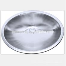 Edelstahl-runde ovale Toiletten-Wanne für Badezimmer, Edelstahl-Behälter-Wanne, Edelstahl-Badezimmer-Wanne mit ovaler Schüssel