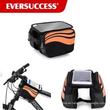 Bolso delantero superior de la bici del tubo Bolsos del marco de la bicicleta del tacto de la pantalla del teléfono móvil de 5.5 pulgadas