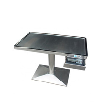 MT medical good quality veterinary stainless steel column weighting diagnosis vet treatment table
