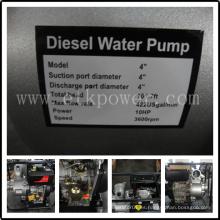 """Juego de bomba de agua diesel refrigerado por aire de 4 """""""