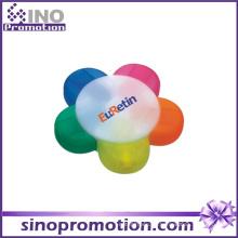 Runder Textmarker 5 Color Highlighter Marker Pen