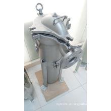Carcaça de filtro de saco único para tratamento líquido industrial