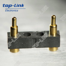 Spring Loaded Connector with 2 Contacts, High Performance