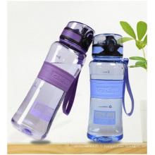 Tasses en plastique transparentes créatrices avec le couvercle, verre portatif d'eau d'étudiants peut être imprimé le logo
