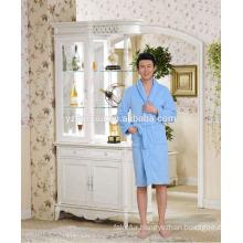 2015 super soft Solid coral fleece Men's bathrobe