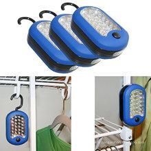 Fonctions doubles Lumière de travail magnétique ronde LED de 27 LED avec crochet de suspension intégral