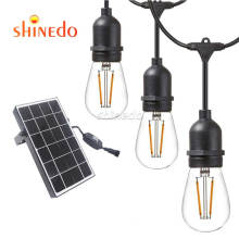 Waterproof LED Outdoor Solar Garden String Lights with Hanging Sockets