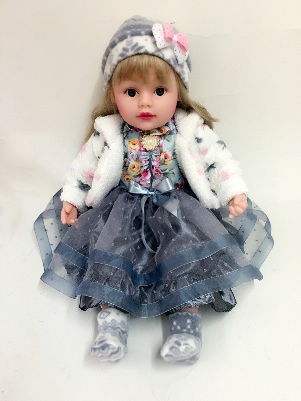 Pair Of Vinyl Doll With Tu Tu Skirt