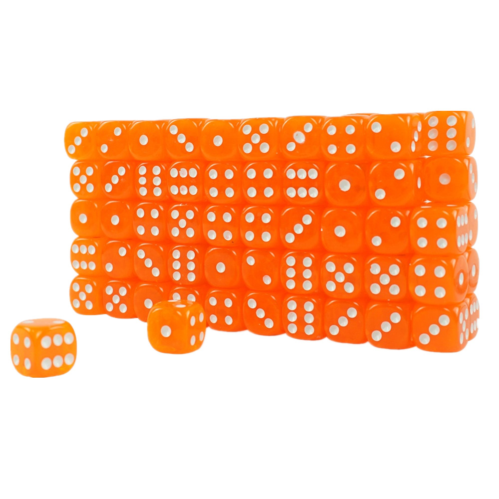High Quality Acrylic Transparent Casino Dice Orange