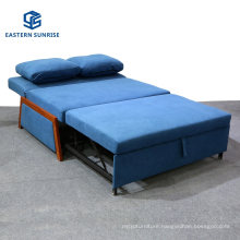 Compact Living Space Velvet Upholstered Modern Convertible Folding Futon Sofa Bed