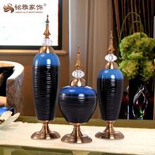 Livingroom interior enamel vase for table desk ornament art crafts