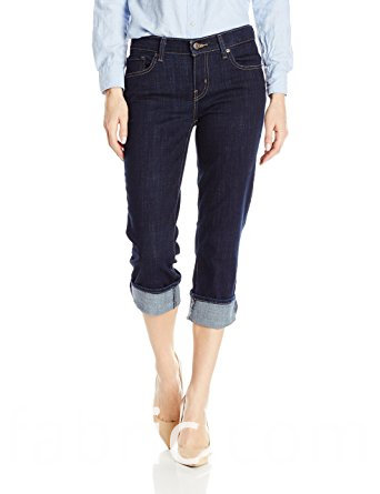 530women S Easy Fit Cameron Cuffed Capri Jean