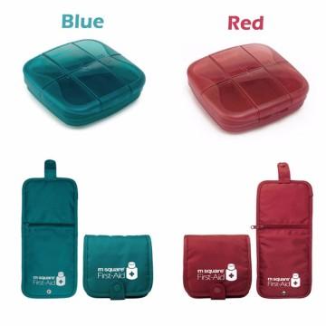 Erste-Hilfe-Set, Pillenbox mit großer Kapazität