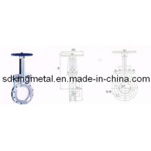 Manual cuchillo de acero fundido válvula de puerta 150lbs