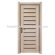 Barato quarto interior de madeira melamina terminou porta moldada