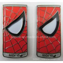 Can Shape Metal Soft Enamel Badge for Spider Man (badge-213)
