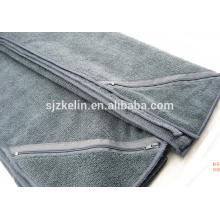 gym towel with zip pocket