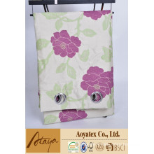 100% polyester vente chaude jacquard nouveau design fleur rideau pack pp sac et insert