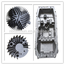 OEM preto anodizar alumínio die casting peças automotivo dissipador de calor eletrônico