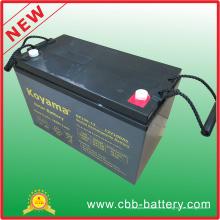 Batería estacionaria AGM de plomo de 12V 100ah para sistema de telecomunicaciones, solar y de respaldo