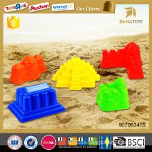 Summer playa arena castillo juguetes de juguete de plástico colorido molde