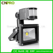 Al aire libre impermeable inalámbrico 10W PIR sensor de movimiento LED Floodlights