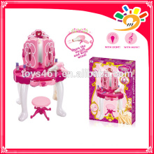 Opening door dresser toys with chair light and music for girls