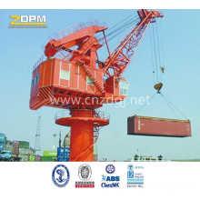 Fixed Base 360degree Slewing Crane Port Equipment