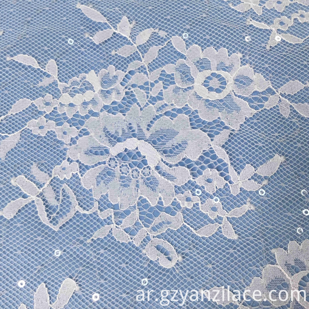 Chantilly Tulle Lace Fabric