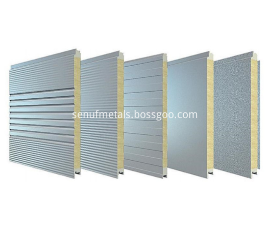 50 150mm Thickness Rockwool Sandwich Panel For Metal Wall Cladding System2