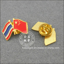 Thailand and Chinese Flag Badge, Souvenir Lapel Pin (GZHY-LP-003)