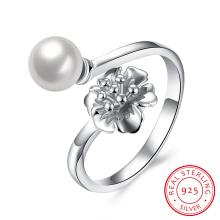 Pure Silber Birnen Ring 925 Sterling Silber Frauen Schmuck