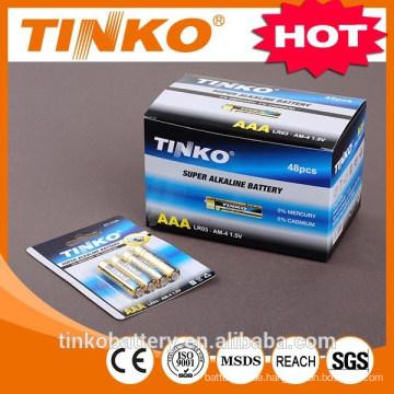 Batterie Lieferant und Herstellung lr03 Trockenbatterie