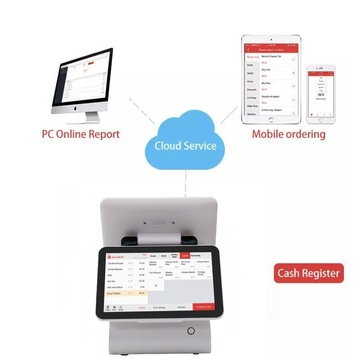 12.5`` Dual Screen tragbare Android Pos