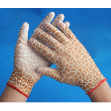 colorful PU coated working garden gloves