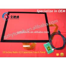 Interface USB 19 polegadas Resistiva tela transparente flexível tela sensível ao toque