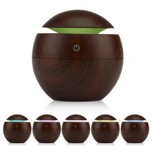 130ml Wood USB Cool Mist Humidifier Aromatherapy Essential