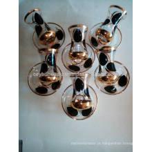 Vidro de chá de estilo turco de design novo 2017, lacado à mão