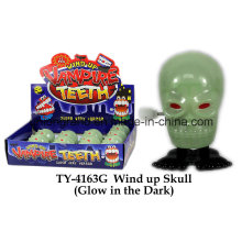 Wind up Skull Glow in The Dark