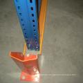 Steel rack drive in pallet racking system