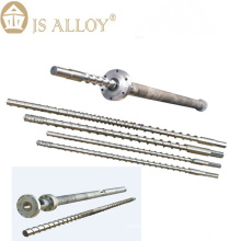 Screw and barrel for extrusion blow molding machine