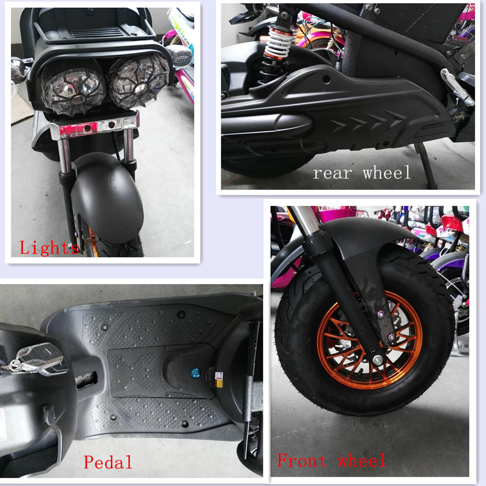 Front rear disc brake motorcycle 1000W