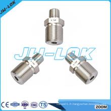 Raccord de tube de raccordement hexagonale à réduction de qualité élevée