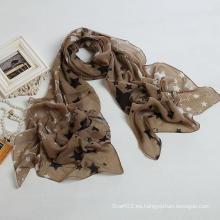 Bufanda a estrenar de la manera de la bufanda de la estrella de la bufanda del estilo del nuevo estilo, bufanda del poliester (PP035L)