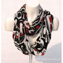 Women′s Bamboo Printing Spring Autumn Summer Woven Beach Cover Shawl Snood Loop Scarf (SW123)