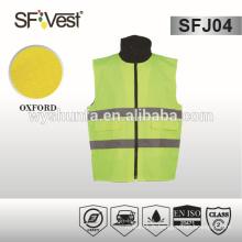 2015 gilet de sécurité à haute visibilité rembourré à chaud et à haute visibilité avec doublure en taffetas 190t avec de nombreuses poches, EN ISO 20471: 2013
