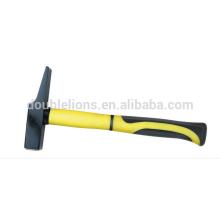 Machinist Hammer With Half Plastic-coating Handle